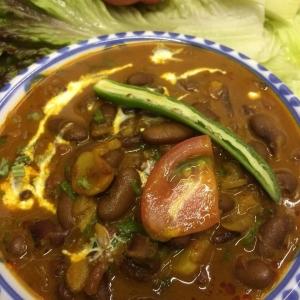 ラージマ豆のカレー