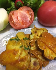サツマイモのサブジ