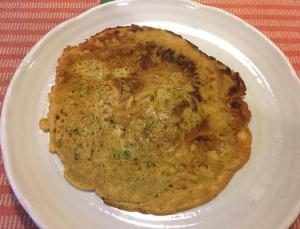 豆の粉の薄焼きパン