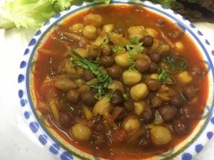 2種類のひよこ豆のカレー