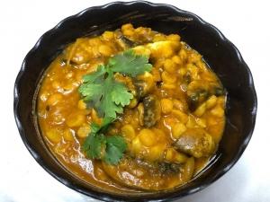 豆とマッシュルームのカレー