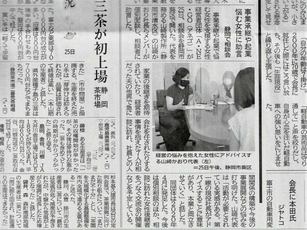 掲載記事 静岡新聞