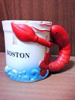 ボストンみやげ・ちょっとグロいロブスターマグカップ