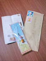 届いたお礼の手紙とプレゼント