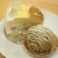 プリンケーキと中津川モンブラン