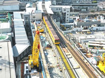 工事中(渋谷駅)