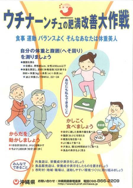 ウチナーンチュの肥満改善大作戦ポスター