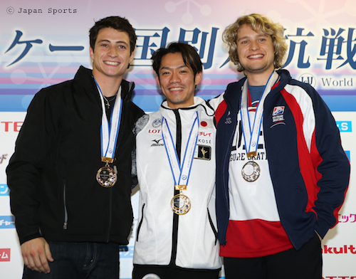 Scott MOIR スコット・モイア Daisuke TAKAHASHI 高橋大輔 Charlie WHITE チャーリー・ホワイト © Japan Sports