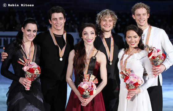 Tessa VIRTUE / Scott MOIR, Meryl DAVIS / Charlie WHITE, Madison CHOCK / Evan BATES © Robin Ritoss