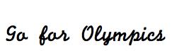 Go for Olympics