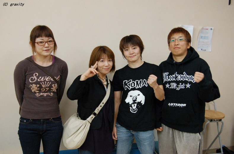 エッヂ選手、辻選手、大室奈緒子選手、内藤晶子選手