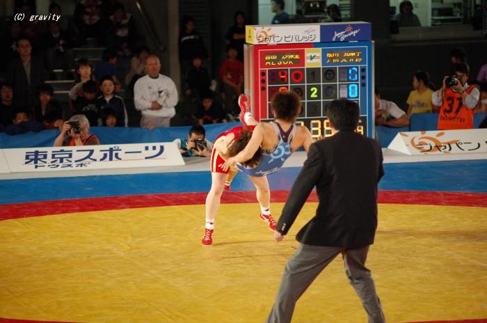 吉田沙保里vs松川知華子