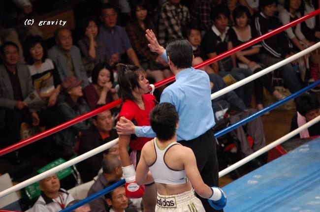菊地奈々子KO勝利