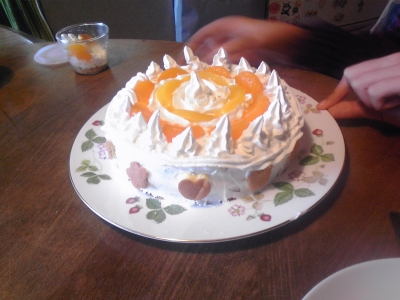 ケーキ出来上がり
