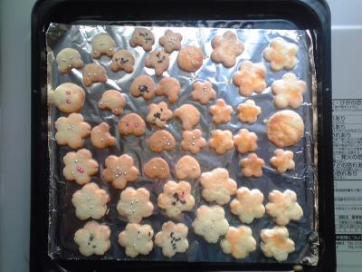 クッキー焼きあがり