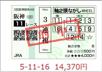 京都11R3複100627
