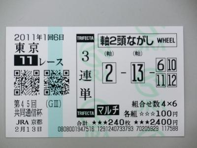 東京11R3単110213