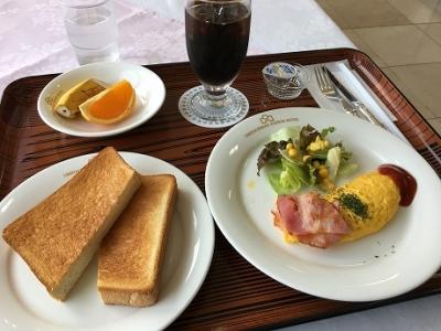 近江八幡ステーションホテルで朝食