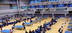 卓球試合の写真