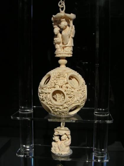 台北国立故宮博物院 象牙球