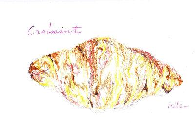 クロワッサンの絵