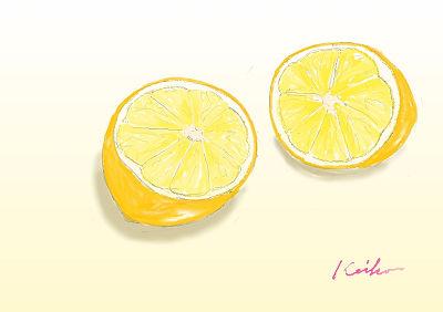 レモンの水彩画