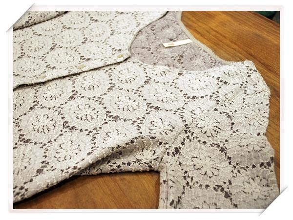 lacy flower cardigan ペプラムカーディガン