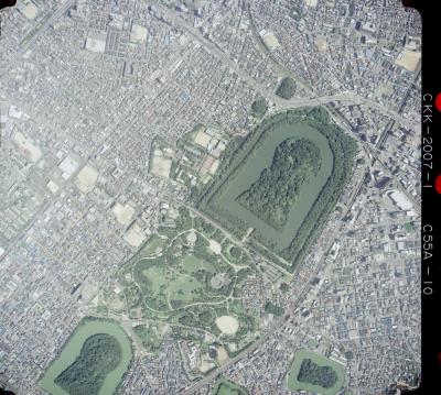 大仙陵古墳2007年 国土地理院 空中写真 2007年国土地理院撮影の大仙山古墳と1948年米軍