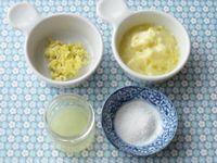 レモンバターの材料