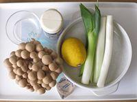「しめじとねぎのレモンバター炒め」の材料