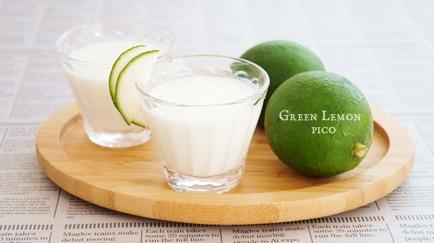 グリーンレモンで作った「飲むヨーグルト」