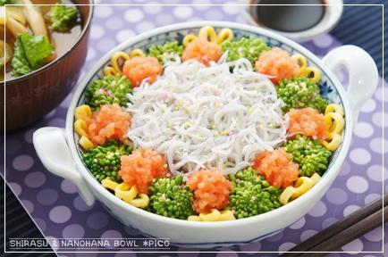 釜揚げシラスと菜の花のミニ丼
