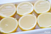 ゼリー液を入れて、冷蔵庫で冷やし固める。