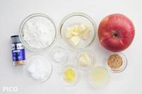 「りんごのミルフィーユタルト」の材料