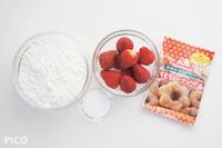 「ストロベリードーナッツ」の材料