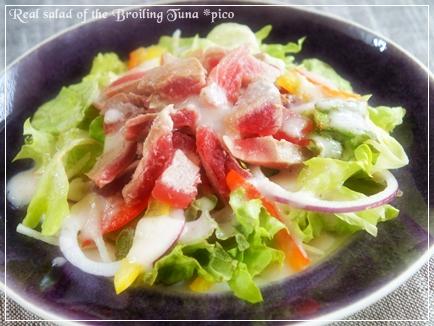 炙りマグロの大人サラダ