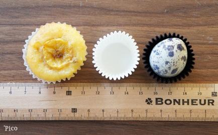 プチバナナケーキはこんなに小さいのです!