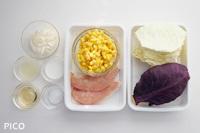 「紫キャベツとささみのコールスローサラダ」の材料