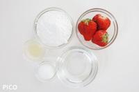 「白玉いちご」の材料