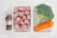 「ステーキと野菜のサイコロピック」の材料