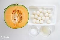 「白玉メロンボール」の材料