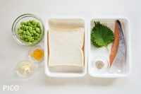 「塩鮭と大葉のトースト」の材料