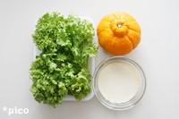 「わさび菜とデコポンのヨーグルトサラダ」の材料