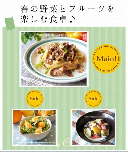 春の野菜とフルーツを 楽しむ食卓♪