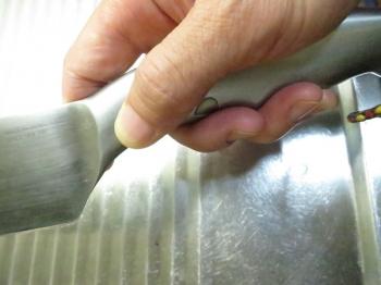 包丁の握り方