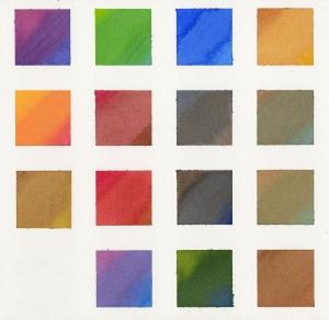 水彩絵の具カラーチャート
