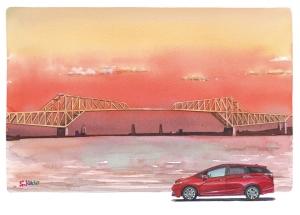 東京ゲートブリッジ Tokyo Gate Bridge / Watercolor