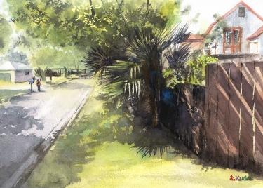 Watercolor Hahei New Zealand
