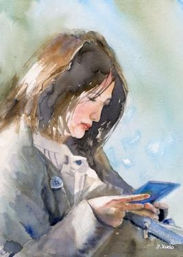 Chat / Watercolor チャット / 水彩画