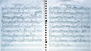 コンファメーションのアドリブコピー譜